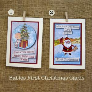 baby's 1st christmas card