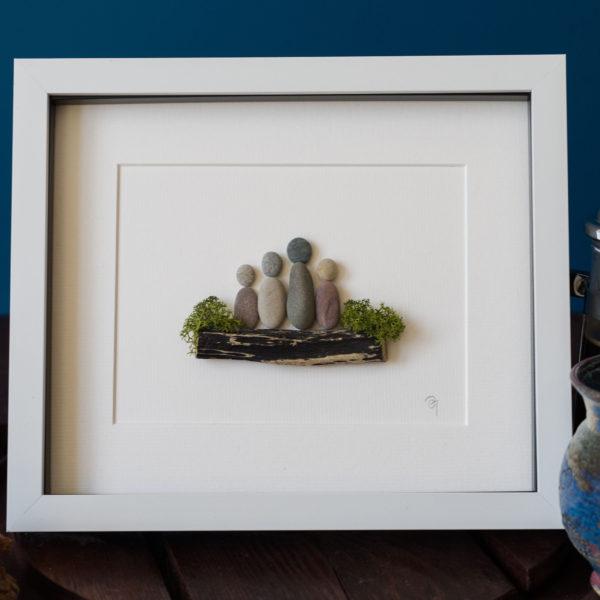 pebble art family
