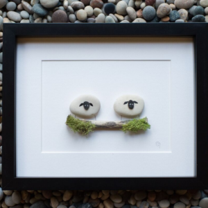 sheep pebble art