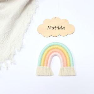 rainbow macrame