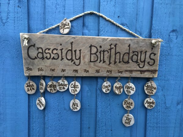 personalised family birthday signs