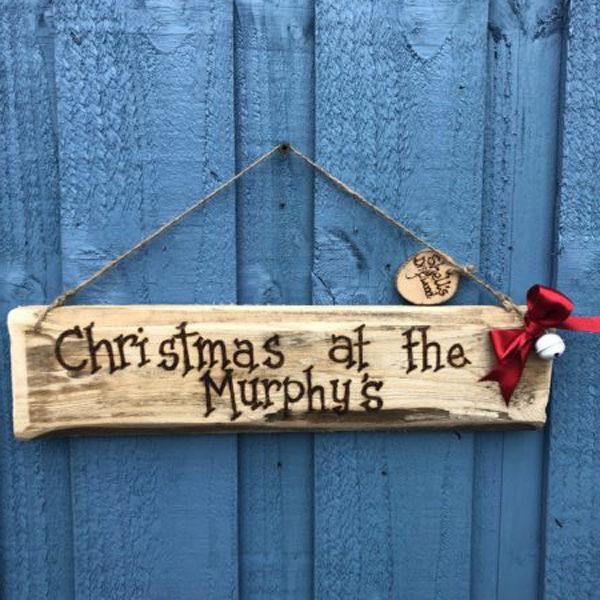 christmas family name signs