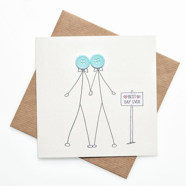 same sex weddding card