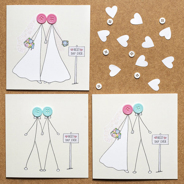 same sex wedding card