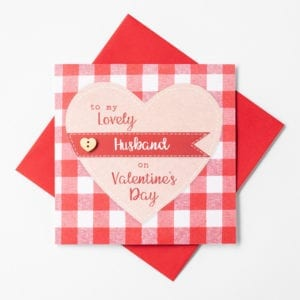husband valentine card