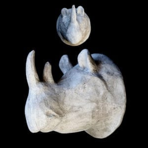 rhino head wall decor
