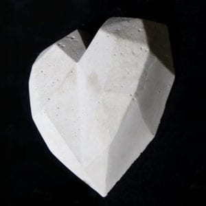 heart concrete art