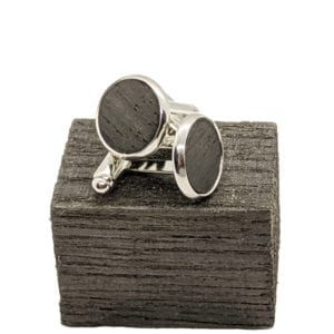 irish wooden cufflinks
