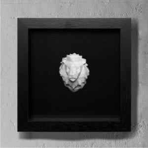 lion concrete art