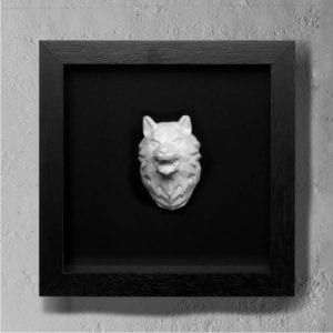 wolf concrete art
