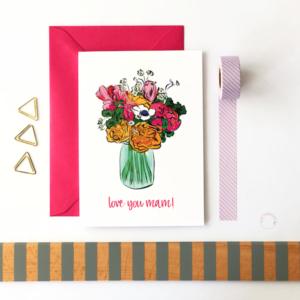 love you mam card