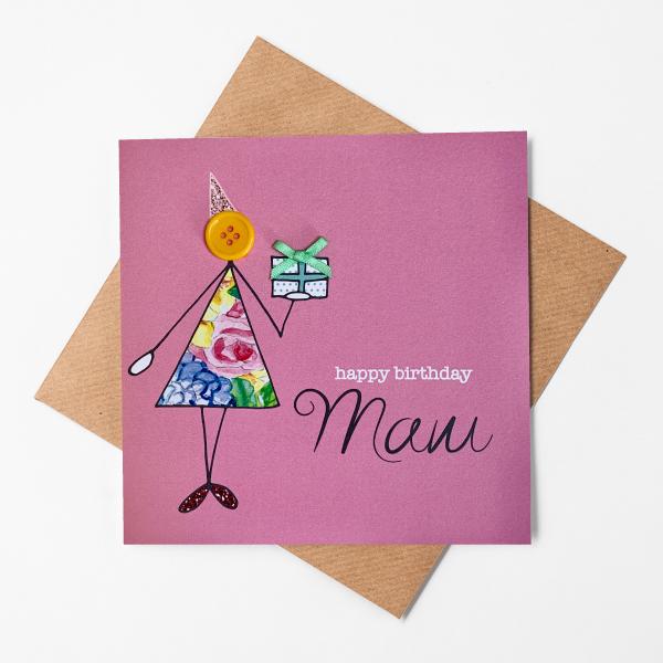 happy birthday mam card