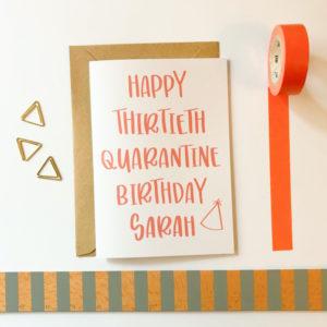 custom quarantine birthday card
