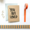 kraft you are loved card