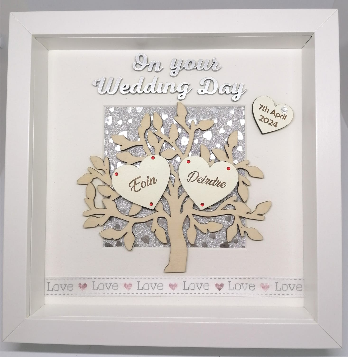 Wedding Picture Frame Personalised Handmade In Ireland Cuando