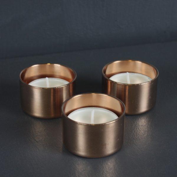 copper tea lights