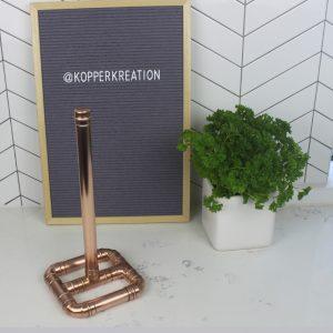 copper kitchen roll holder