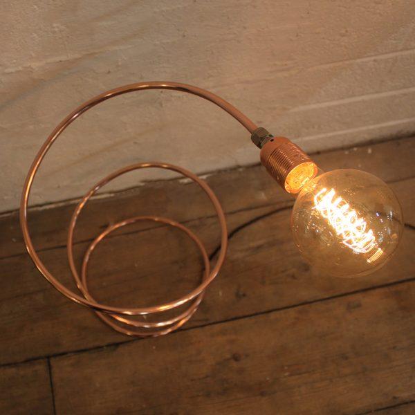 modern copper lamp