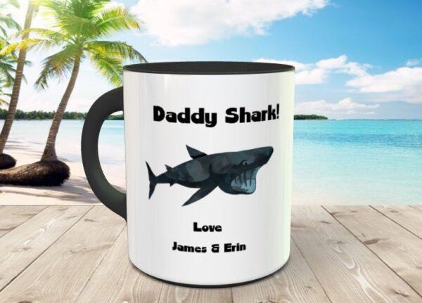 daddy shark mug