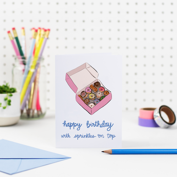 happy birthday with sprinkles on top