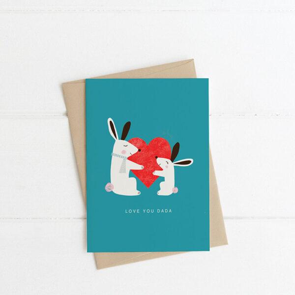 love you dada card