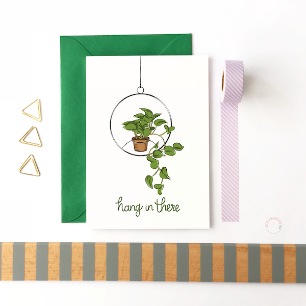 hang in there support card