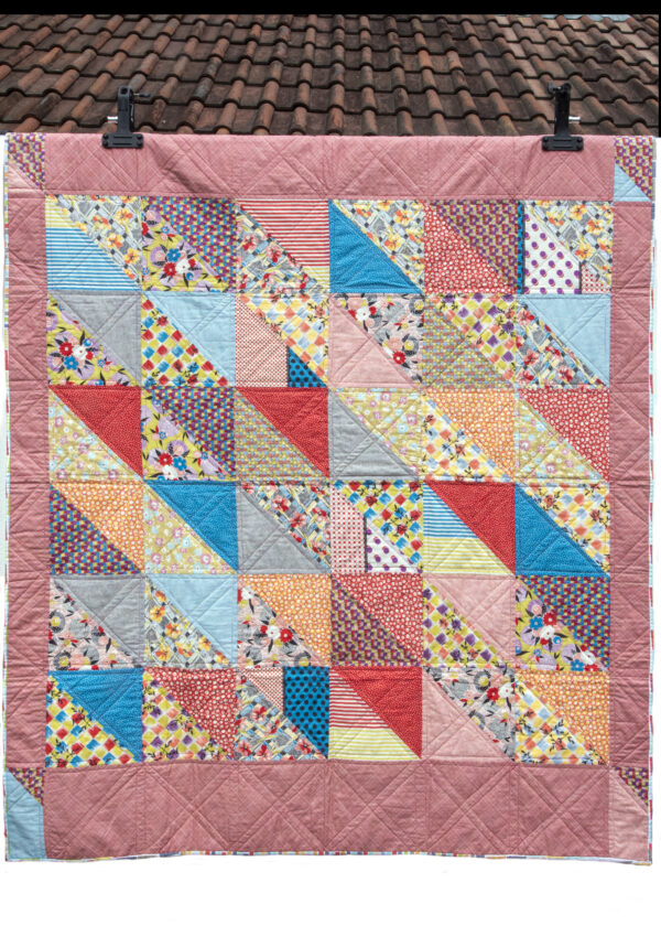 retro patchwork quilt