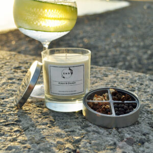gin and tonic candle