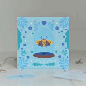 moth greeting card