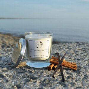 vanilla and cinnamon candle