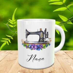 Vintage Sewing Machine Mug