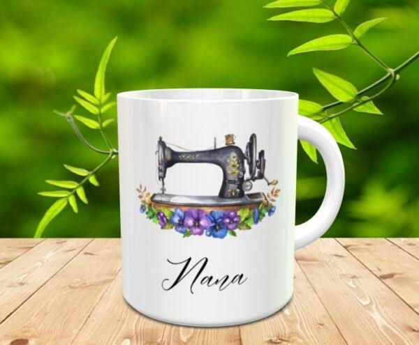 Vintage Sewing Machine Mug