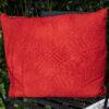 red wool cushion