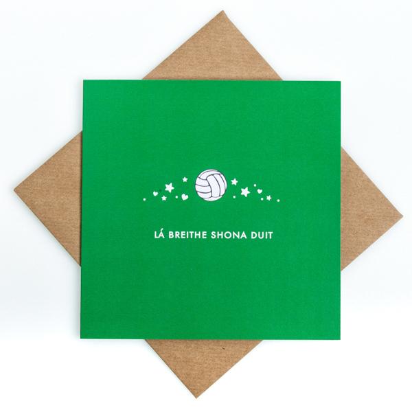 gaelic football birthday card