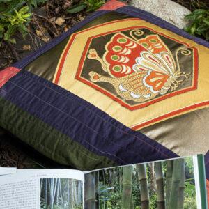 vintage silk cushions
