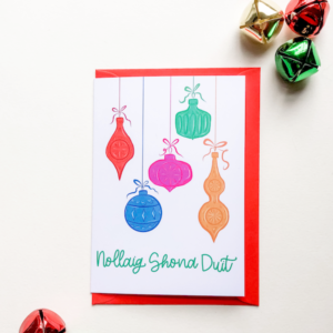 nollaig shona duit irish christmas card