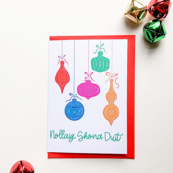 nollaig shona duit irish christmas card