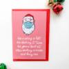 face mask christmas card