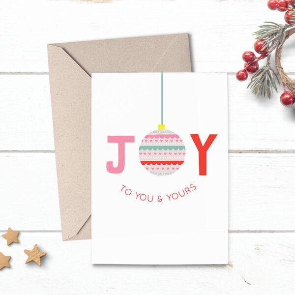 sending joy christmas card