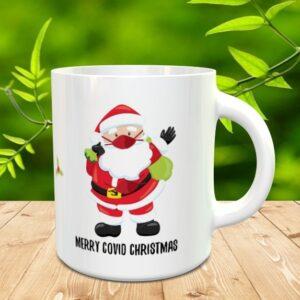 covid christmas mug