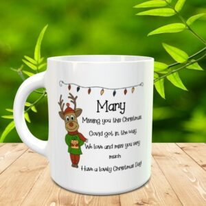 missing you at christmas mug