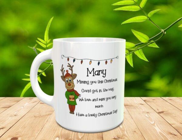 missing you at christmas mug