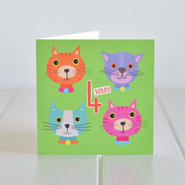 fourth birthday card