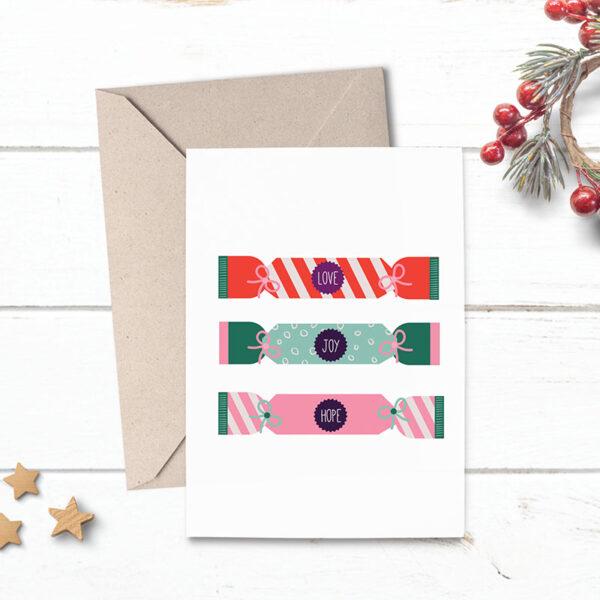 christmas crackers card