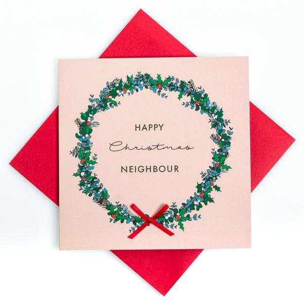 happy christmas neighbour card