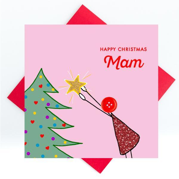 happy christmas mam card