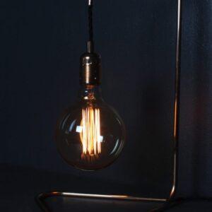 industrial copper lamp