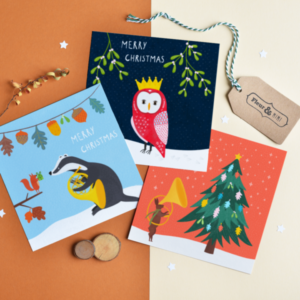 woodlands animals christmas cards