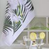 palm leaves tea towel