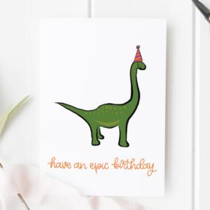 dinosaur card